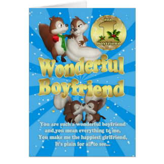 Boyfriend Christmas Card - Love Squirrels