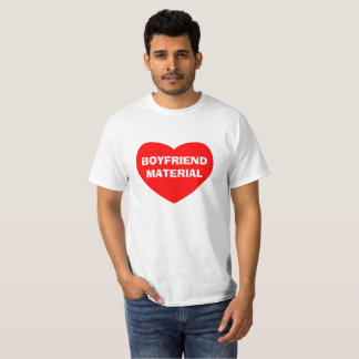 Boyfriend Material text print on Value tshirt