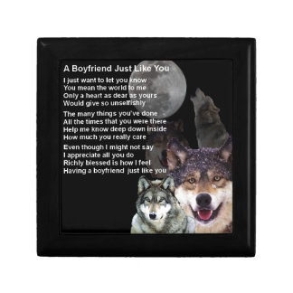 Boyfriend Poem  -  Wolf Design Gift Box