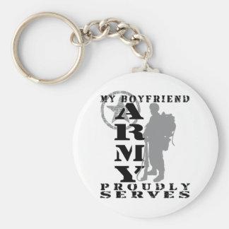 Boyfriend Proudly Serves - ARMY Basic Round Button Key Ring