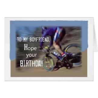 Boyfriend Sports Mountain Bike Birthday Card