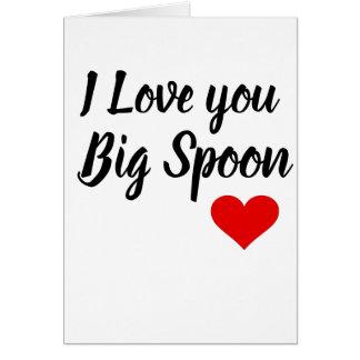 Boyfriend Valentines Card-Spooning Card-Husband Card