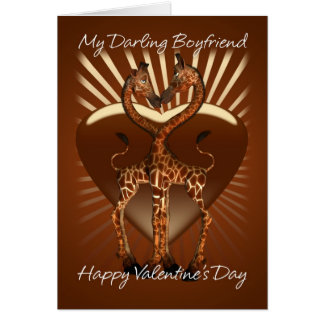 Boyfriend Valentine's Day Card With Giraffes