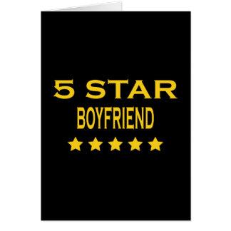 Boyfriends Birthdays Valentines 5 Star Boyfriend Greeting Card