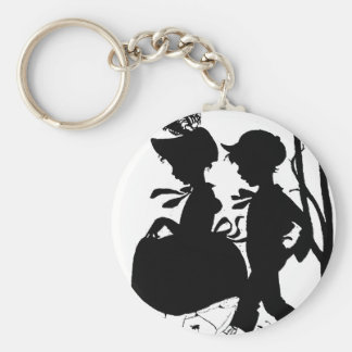 BoyGirl1 Basic Round Button Key Ring