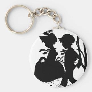 BoyGirl1 Basic Round Button Key Ring