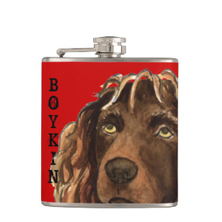Boykin Spaniel Color Block Hip Flask