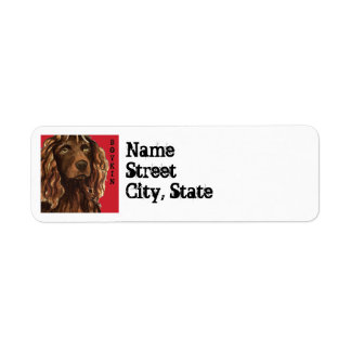Boykin Spaniel Color Block Return Address Label