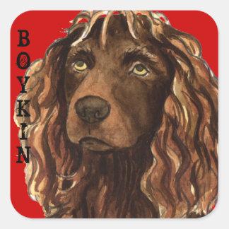 Boykin Spaniel Color Block Square Sticker