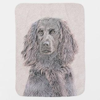 Boykin Spaniel Painting - Cute Original Dog Art Baby Blanket
