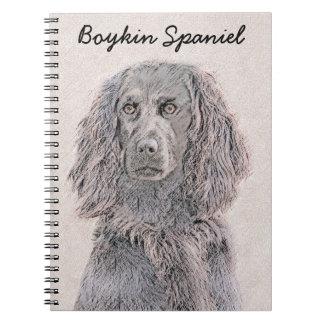Boykin Spaniel Painting - Cute Original Dog Art Notebook