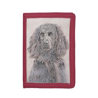 Boykin Spaniel Painting - Cute Original Dog Art Trifold Wallet