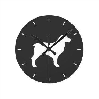 Boykin Spaniel Silhouette Round Clock