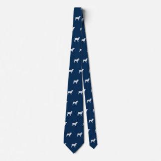 Boykin Spaniel Silhouettes Pattern Blue Tie