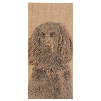 Boykin Spaniel Wood USB Flash Drive