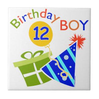 Boys 12th Birthday Small Square Tile