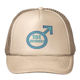 Boys 1st Birthday Trucker Hat