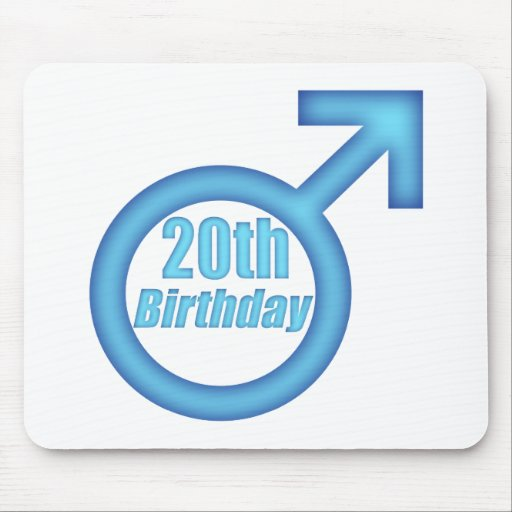 Boys 20th Birthday Gifts Mouse Pad