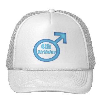 Boys 4th Birthday Gifts Trucker Hat