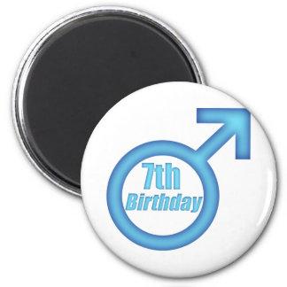 Boys 7th Birthday Gifts 6 Cm Round Magnet