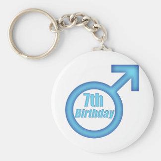 Boys 7th Birthday Gifts Basic Round Button Key Ring