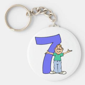 Boys 7th Birthday Gifts Keychain