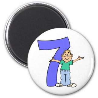 Boys 7th Birthday Gifts Fridge Magnets