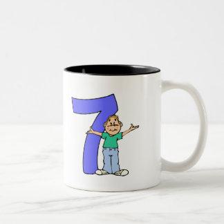 Boys 7th Birthday Gifts Two-Tone Mug