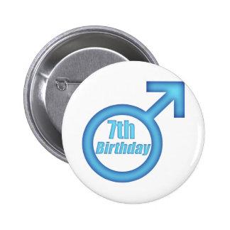 Boys 7th Birthday Gifts Pinback Button