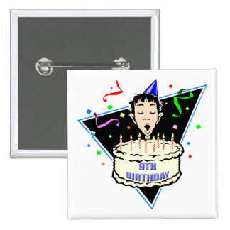 Boys 9th Birthday Gifts Button