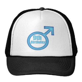 Boys 9th Birthday Gifts Trucker Hat