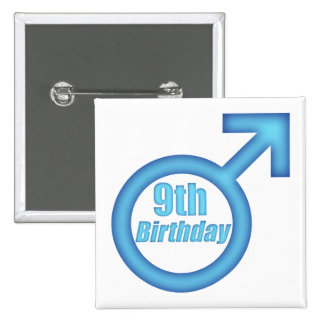 Boys 9th Birthday Gifts Pinback Buttons