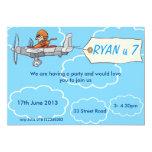 Boys Aeroplane Birthday Invitation