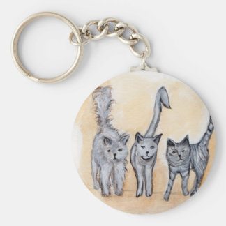 Boys are back in town basic round button key ring