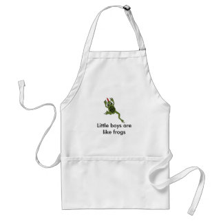 Boys are like frogs standard apron