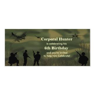 Boy's Army Birthday Invitation