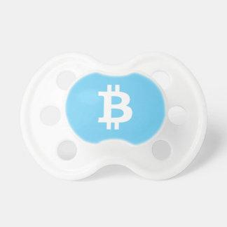Boy's Baby Blue Bitcoin Pacifier