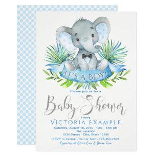 Elephant baby shower invitations zazzle boys baby elephant baby shower invitations filmwisefo