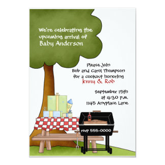 Boys Baby Shower Bar-B-Que Invitation