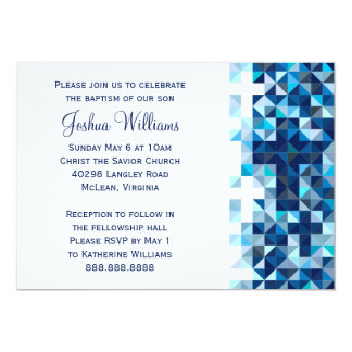Boys Baptism Baby Dedication First Holy Communion 13 Cm X 18 Cm Invitation Card