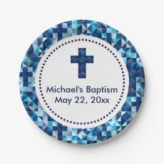 Boy's Baptism Christening First Communion Paper Plate