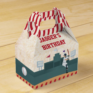 Boys Baseball Themed Party Favor Box