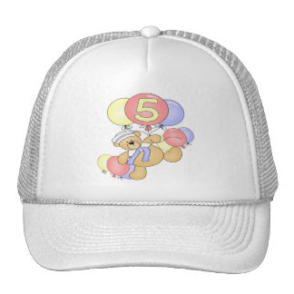 Boys Bear 5th Birthday Gifts Cap