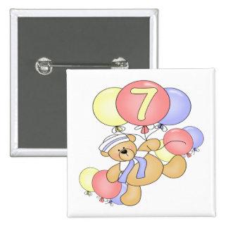 Boys Bear 7th Birthday Gifts Button