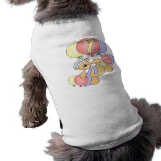 Boys Bear 7th Birthday Gifts Dog T-shirt