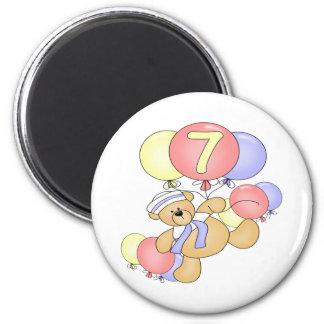 Boys Bear 7th Birthday Gifts Fridge Magnet