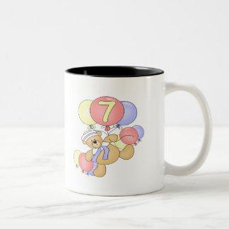 Boys Bear 7th Birthday Gifts Coffee Mug