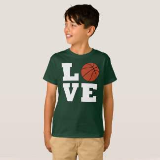 Boys Big Bold Basketball LOVE Player's T-shirt