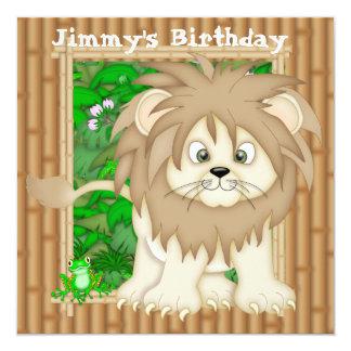 Boy's Birthday Lion Invitations
