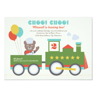 Boy's Birthday Party Invitation | Choo Choo Train